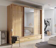 Brand New Modern Bedroom Sliding Mirror Wardrobe ARTI 1 250cm in Shetland Oak