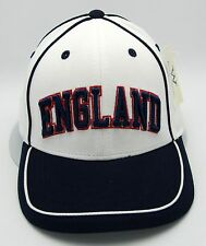 ENGLAND Snapback Cap Hat The Three Lions Soccer Football Futbol Adult Mens NWT