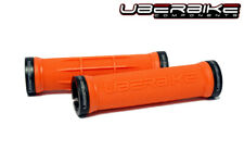 Uberbike Half Waffle Lock on mountain bike Handlebar Grips Orange/Black