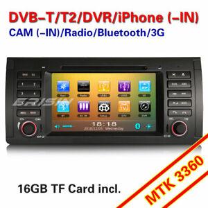 Car Stereo DAB+ Sat Nav Head Unit 3G BT DVB-T CD iPod BMW 5 Series E39 X5 E53 M5