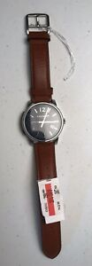 Mens Coach Bleeker Russet Leather Strap Watch 42 MM Created For Macys