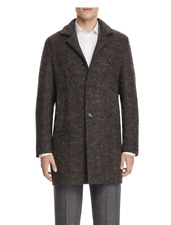 $995.00 Italy  Eidos Tweed Herringbone Car Coat size 50 R