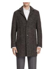 $995.00 Italy  Eidos Tweed Herringbone Car Coat size 52  R