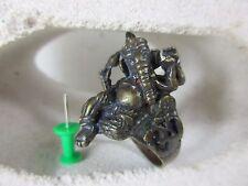 Edad Buda anillo echado Ganesha elefante bronce amuleto tailandia 1970 2,1 cm
