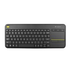 Logitech K400 + Plus Wireless Touchpad Keyboard for Smart TVs, Home Theater PCs