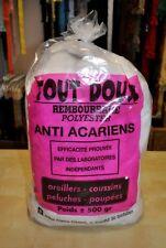 ouate de rembourrage 500gr anti-acariens polyester pour coussins, peluches ...