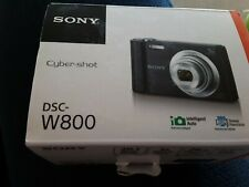 SONY Cybershot Dsc-W800 point and shoot camera with box 20.1 megapixel