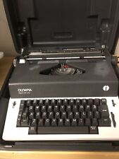 Vintage Olympia Electric Typewriter Report De Luxe White And Grey WORKS
