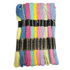 20 Pcs Cotton Thread Sewing Skein Embroidery Cross Stitch Needlepoint Craft
