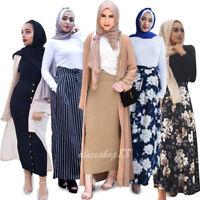 Muslim Ladies Womens High Waist Long Maxi Skirt Slim Pencil Bodycon Long Skirts