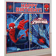 Marvel Comic Spiderman Superhero Children Party Scene Setter Wall Decorating Kit