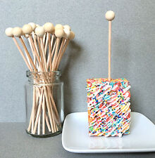 "6"" Wooden Lollipop Sticks, Rock Candy Sticks, Ball End Lollipop Sticks"