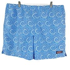 New listing Vineyard Vines Swim Trunks Blue Print Polyester Men's Size XL