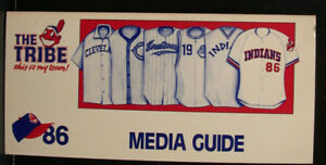 1986 Cleveland Indians Official Media Press Guide, 204 Pages of Facts & Fun!