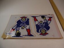 NEW ENGLAND PATRIOTS Official Football Helmet Decal Set from 1992