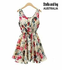 Knee Length Chiffon Floral Party/Cocktail Dresses for Women