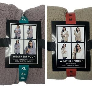 Weatherproof Ladies' Reversible Cozy Sherpa Hooded Jacket Variety Sizes Colors