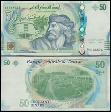 Tunisia 50 Dinars Banknote, 2011, P-94, UNC