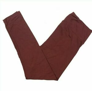 Tween Lularoe Leggings Solid Red Burgundy NWT 402642