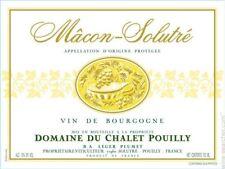 6 bottles  MACON SOLUTRE' 2016  DOMAINE DU CHALET POUILLY