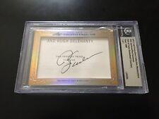 Phil Jackson Red Holzman 2013 Leaf Masterpiece Cut Signature card 1/1 PSA Knicks