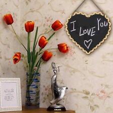 Mini Hanging Wood Heart Blackboard Plaque Memo Home Wedding Decoration