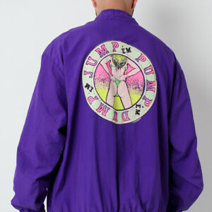 Vintage 80's CRUISIN 'Jump em, Pump em, Dump eem' Graphic Windbreaker Jacket