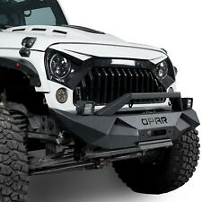 Rock Crawler Front Bumper W/ Fog Light Fit Jeep Wrangler  07-18JK Unlimited