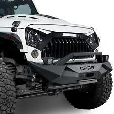 Rock Crawler Front Bumper w/ Fog Light Fit Jeep Wrangler 2007-2018 JK&Unlimited
