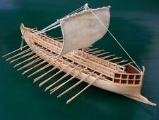 "Elegant, highly detailed model ship kit by Dusek Models: the ""Greek Bireme"""