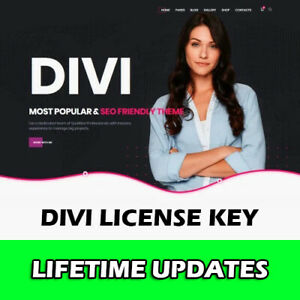 Divi License Key - Lifetime Updates - Complete WordPress Themes and Plugins Pack