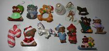 Handpainted ceramic & glass Christmas ornaments animals bears One of a Kind Look
