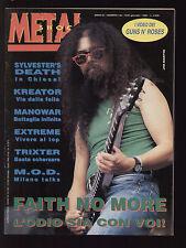 METAL SHOCK 136/1993 FAITH NO MORE BLACK SABBATH POSTER KURT COBAIN QUEENSRYCHE