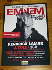 EMINEM - 2014 RAPTURE Australia Tour- Laminated Promo Poster