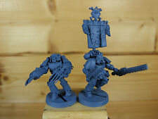 2 CONVERTED FORGEWORLD SPACE WOLVES PRE HERESY BASE PAINTED (145)