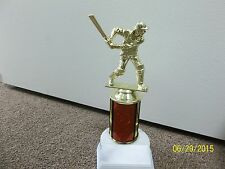 "Cricket trophy, batter, about 7"" tall, includes engraving, new, many colors"