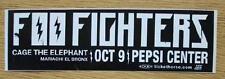 Foo Fighters Cage The Elephant Denver 2011 Bumper Sticker Original Rare
