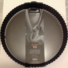 MasterClass Non Stick Large Fluted Flan Tin Quiche Loose Base 30cm 12 Inch New