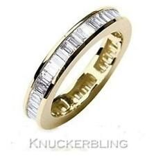 Genuine Diamond Wedding Eternity Ring 2.00ct Baguette Cut F VS1 in 18ct Gold