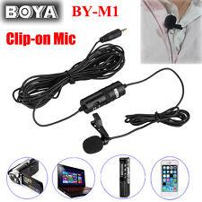 BOYA BY-M1 DSLR Camera Lavalier Microphone fr Canon Nikon Sony Audio Recorder UK