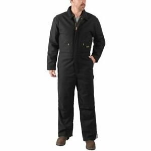 New Walls Mens Black Insulated Duck Canvas Workwear Jumpsuit Overalls Size XL