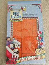 Daisy Kingdom Peace On Earth Rubber Stamp Kit