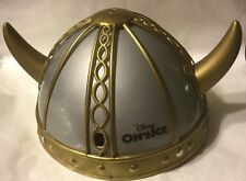 Disney On Ice Child Size Gold & Silver Plastic Norway Viking Helmet Souvenir