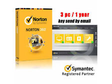 Norton 360 Symantec 3PC 1Year License Code Key win 10 ready