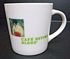 Starbucks Cafe Estima Coffee Mug Multi Region Blend 2005 White Lime Green 16 oz