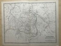 1869 Abyssinia & Upper Nubia Original Hand Coloured Antique Map by Johnston