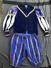 Vtg handmade Medieval Renaissance Jester Costume Bullion Shirt Pants Cosplay