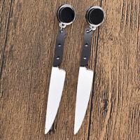 Women Funny Acrylic Knife Shape Pendant Earrings Ear Studs Ear Drop Punk Jewelry