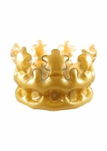 Inflatable Blow Up Gold Crown King Queen Royal Costume Accessory Party Prop