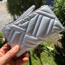 Michael Kors 35H9SP6W3I Peyton Double Zip Wristlet - Silver